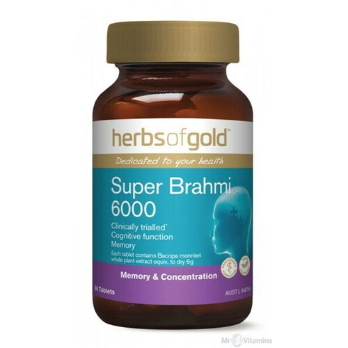 Super Brahmi 6000 by Herbs of Gold 60 tabs