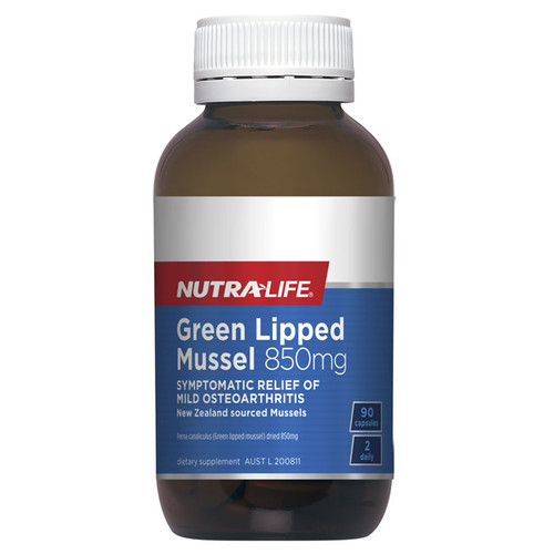 Green Lipped Mussel 850gm 90 caps by Nutra Life