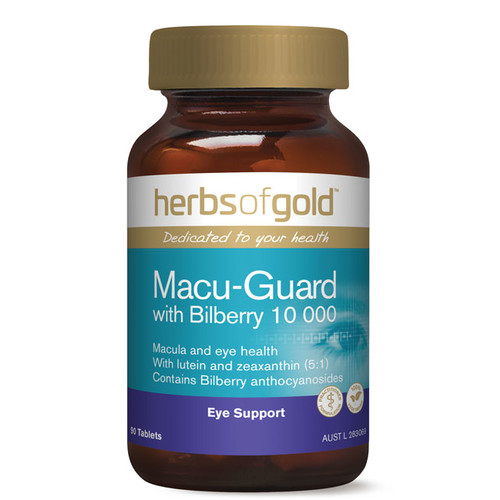 Macu-Guard 90 caps with Bilberry 10000 by Herbs of Gold