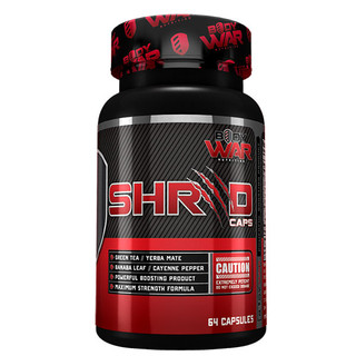 Shred Caps by Body War Nutrition 64 capsules