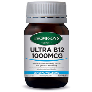 Ultra B12 100tabs 1000mcg by Thompsons