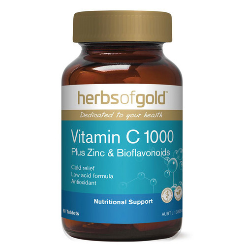 Vitamin C 1000 plus Zinc by Herbs of Gold