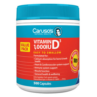 Vitamin D3 1000iu by Caruso's Natural Health 500 caps