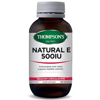 Vitamin E 500iu Natural by Thompsons 100 caps