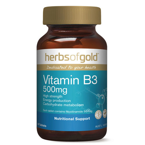 Vitamin B3 500mg by Herbs of Gold 60 tabs