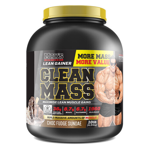 Clean Mass Gainer 4.54KG by Max's