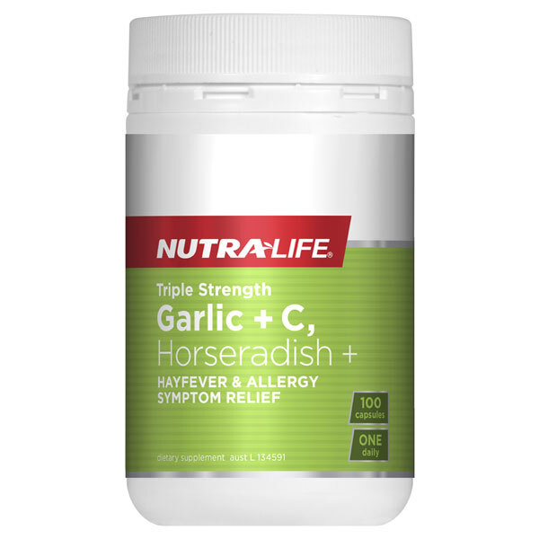 Triple Strength Garlic + C, Horseradish by Nutra Life 100 caps
