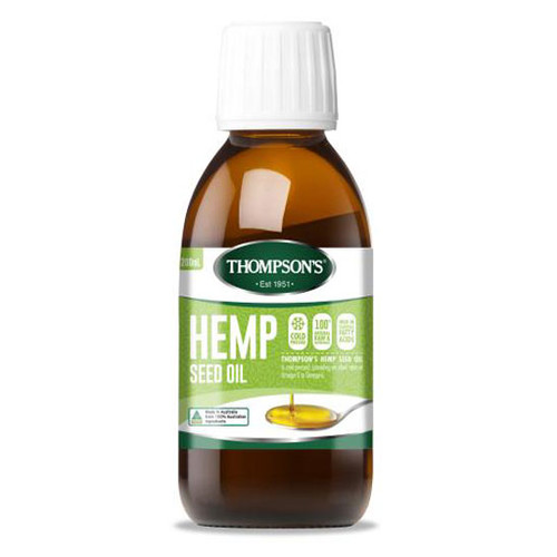 Hemp Seed Oil 200ml by Thompsons