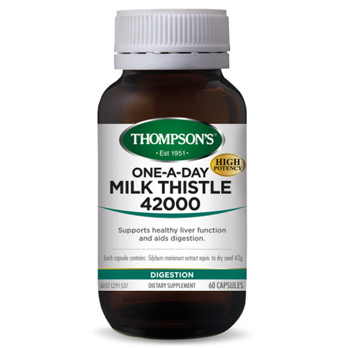 Milk Thistle 42000 60 vcaps by Thompsons