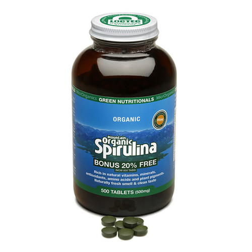 Spirulina Mountain Organic 500mg 600 tabs