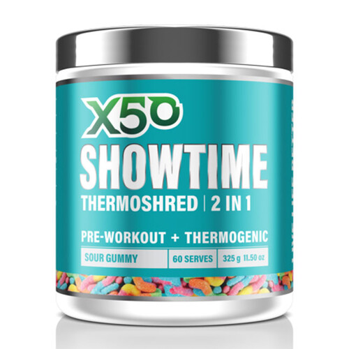 X50 Showtime Thermoshred 60 serves
